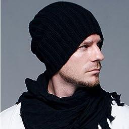New Knitted Gorro Touca Men Winter Hat Autumn Sport Beanie Men Warm Skullies Casual Cap