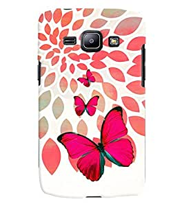 PrintVisa Stylish Cool Girl Butterfly 3D Hard Polycarbonate Designer Back Case Cover for Samsung Galaxy J1