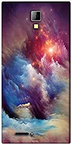 Snoogg universe storm Designer Protective Back Case Cover For Micromax Canvas Express A99