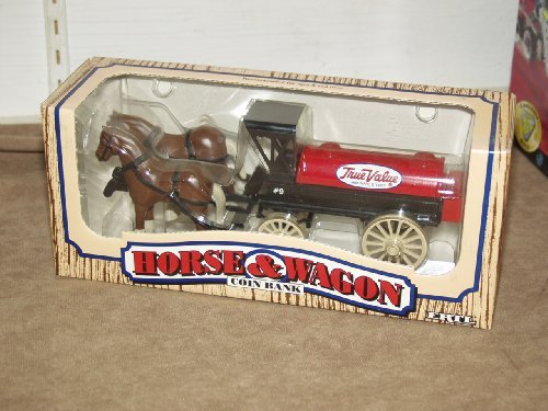 Ertl Horse and Wagon Coin Bank