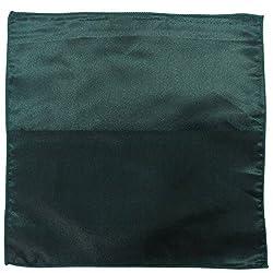 Serebroarts Solid Polyster Pocket Square Royal Green
