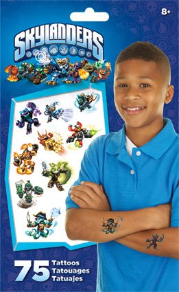 Skylanders Giants Swap Force Temporary Tattoos 75 ct.