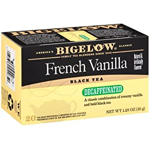 Bigelow Decaffeinated French Vanilla Tea, 20-Count Boxes (Pack of 6)