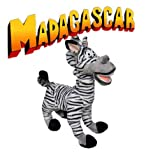 "7"" Madagascar Marty the Zebra Plush Celebrity Bean Bag Doll"