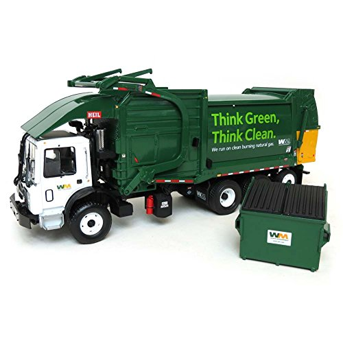 Mack TerraPro Waste Management Garbage Truck with Heil Half/Pack Freedom Front End Loader with CNG Tailgate including Bin 1/34 by First Gear 10-4006 For Adult Collectors for Display Purpose. (Waste Management Garbage Truck compare prices)