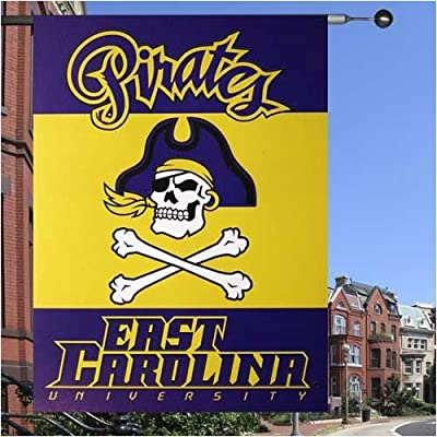 """East Carolina Pirates 28"""" x 40"""" Collegiate Banner Flag"""