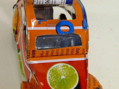 "Model car ""2CV Tortoise Recycling"", silver"
