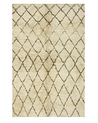 "nuLOOM One-of-a-Kind Hand-Knotted Vintage Moroccan Berber Rug, Natural, 6' 11"" x 10' 1"""