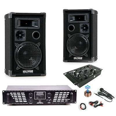 PA Party Musikanlage Boxen 2000W USB SD MP3 Verstärker Endstufe Mischpult DJ-631 von etc-shop auf Reifen Onlineshop