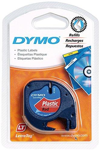 Dymo S0721630 Nastri Letratag, plastica, colore: Rosso