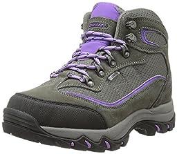 Hi-Tec Women\'s Skamania Mid WP Hiking Boot, Grey/Viola,7.5 M US