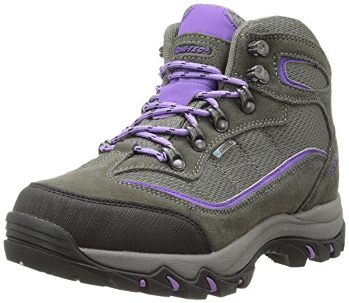 Hi-Tec Women's Skamania Mid WP Hiking Boot, Grey/Viola,7.5 M US