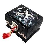 Boîte à Bijoux Musicale Arirang Chanson Traditionnelle Coréenne Grue Romantique