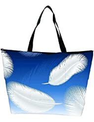 Snoogg Feathers Vector Waterproof Bag Made Of High Strength Nylon - B01I1KLG3A