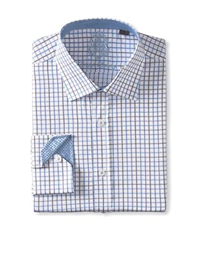 English Laundry Men's Micro Check Long Sleeve Shirt