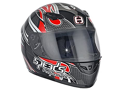 Casque Speeds Integral Performance II Tribal Graphic rouge taille L