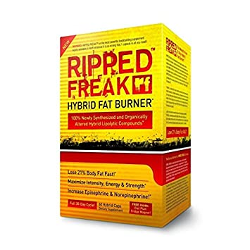 Ripped Freak - Fatburner - Fettverbrennung - Energie & Kraft 60 Kapseln