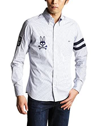 (サイコバニー)Psycho Bunny ゼッケンB・Dシャツ M1S011 16 ブルー S