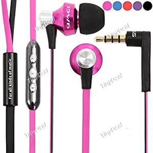 AWEI S950VI 3.5mm Stereo Super Bass In-Ear In-ear Earphones Stereo Headphones with Mic EEP-319089 - Rose red