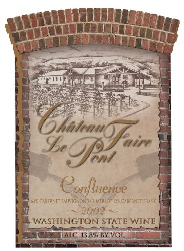 "2002 Chateau Faire Le Pont ""Confluence"" Washington State Red Blend 750 Ml"