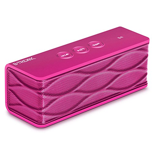 Sentey® Bluetooth Speaker B-Trek S4 (PINK) up 6 hours of play time - Built-in Mic for Handsfree - 10 Meter - 33 Foot Range - Rechargeable Lithium Ion Battery - Wireless - AUX Line in & Line out allows Music Playback From Various Sources / Works with iPhon