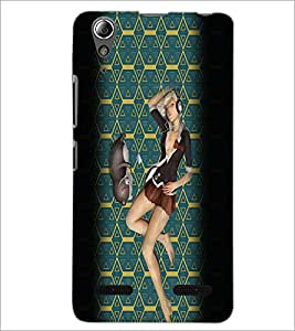 PrintDhaba Music Girl D-2939 Back Case Cover for LENOVO A6000 (Multi-Coloured)