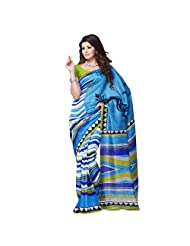 Art Silk Fabric Blue Color By 101cart - B00PVVP20Q