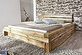 XXS-Elias-Holzbett-180-x-200-cm-in-Wildeiche-natur-gelt-mit-Bettkasten-massives-Bett-in-natrlichem-Design-hohes-geteiltes-Kopfteil-fr-Leseabende-zeitloses-Bett-fr-Ihr-Schlafzimmer