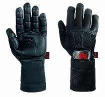 Valeo Pro Full-Finger Anti-Vibe Gloves with Wrist Wraps (Black, X-Large)