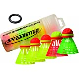 Speedminton® Mixpack Volants de Badminton 1 Fun-Speeder, 2 Match-Speeder, 1 Night-Speeder et 1 Cross-Speeder