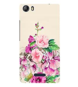 Floral Painting 3D Hard Polycarbonate Designer Back Case Cover for Micromax Canvas 5 E481