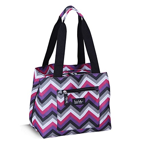 nicole-miller-new-york-insulated-cooler-lunch-tote-purple-chevron