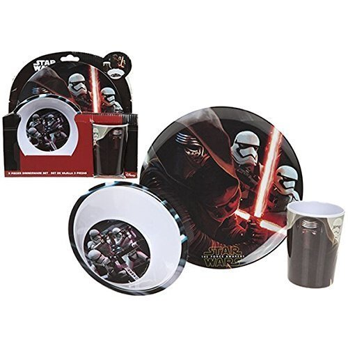 set de repas en m lamine motif star wars comprenant une. Black Bedroom Furniture Sets. Home Design Ideas