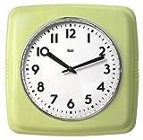 Bai Square Retro Wall Clock, Chartreuse