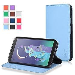 Google Nexus 6 Case - Exact Google Nexus 6 Case [BillFOLD Series] - PU Leather Wallet Flip Cover Case for Google Nexus 6 Sky Blue
