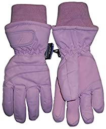 N\'Ice Caps Kids Bulky Thinsulate and Waterproof Ski Glove With Ridges (4-5yrs, Pink)