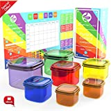 Smart Diet Control Portion Containers kit 7 Piece with eBook 21 day Meal Planner Complete Guide Leak Proof Microwave and Dishwasher Safe