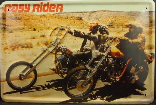 Country Easy Rider Motorcycle Metal Tin Plate Sign Poster Vintage Decor