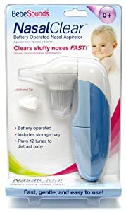 Bébésounds Nasal Clear Battery Operated Nasal Aspirator