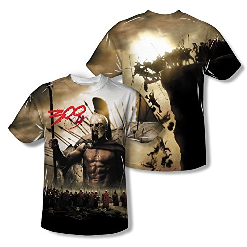 00 Spartans All Over Front/Back T-Shirt