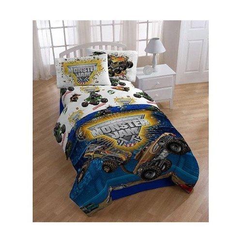 Monster Jam Full Comforter And Sheet Set Bedding Collection