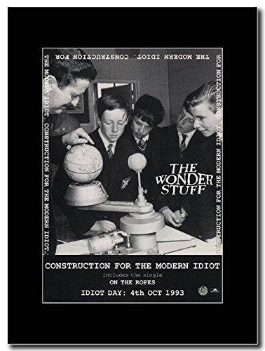 Wonder The Stuff-Costruzione per i Idiot Magazine Promo su un supporto, colore: nero