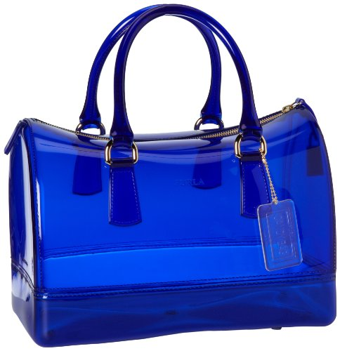 FURLA Candy Bauletto Satchel,Ocean,One Size