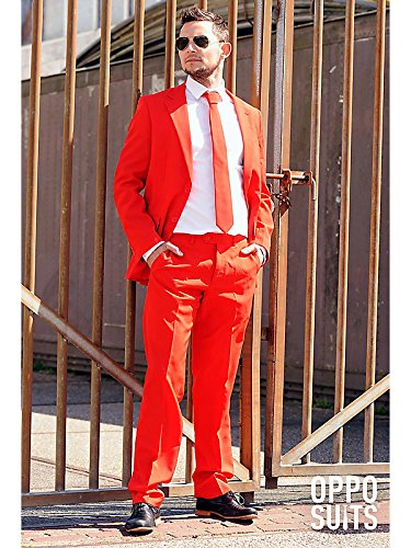 OppoSuits Men's Red Devil Party Costume Suit