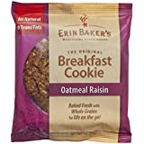 Erin Baker's Breakfast Cookies, Oatmeal Raisin, 3-Ounce Individually Wrapped Cookies (Pack of 12)