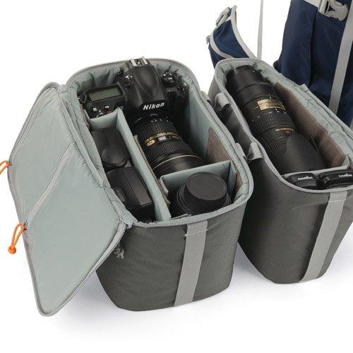 【国内正規品】Lowepro カメラリュック ローバープロ45L AW 45L レインカバー PCスペース有 三脚取付可 ブルー×グレー 364488