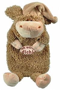 """Wärmfläsche """"ICH WÄRME DICH"""" für das Baby / Kind, kuschelig in Schäfchenform, flauschig für die Füßchen, ohne Inhalt zu verwenden als Beutel für den Schafanzug (39301+39302) (braun)"""