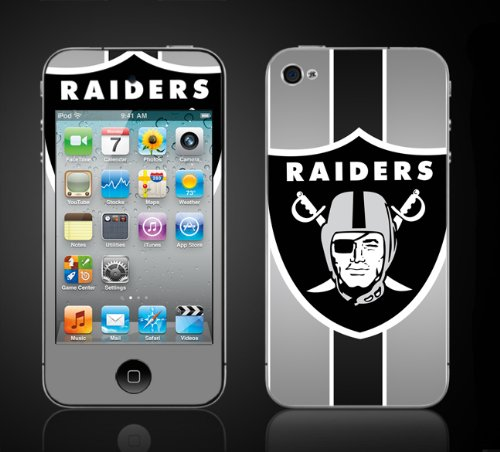 Apple Ipod Touch 4Th Gen Skin Kit - Raiders, Oakland Football. Raider Nation. front-1075899