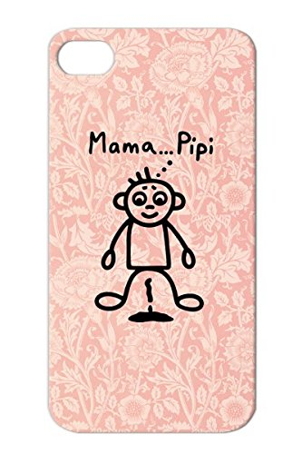 Toodler Mama... Pipi Dirtproof Black Baby Toddler Pee Puddle Infant Diaper Child Boy Bimote Pissing Case Cover For Iphone 4 front-751140