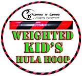 Kids Hula Hoops - Quality Weighted Children's Hula Hoop!(Black/UV Pink) Great For Exercise, Dance, Fitness & FUN! NO Instructions needed! SAME DAY DISPATCH!